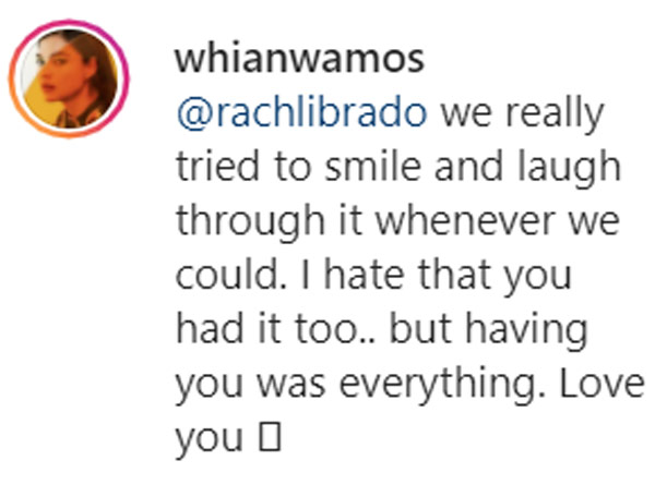 Twitter Post: Rhian Ramos thanks manager Rach