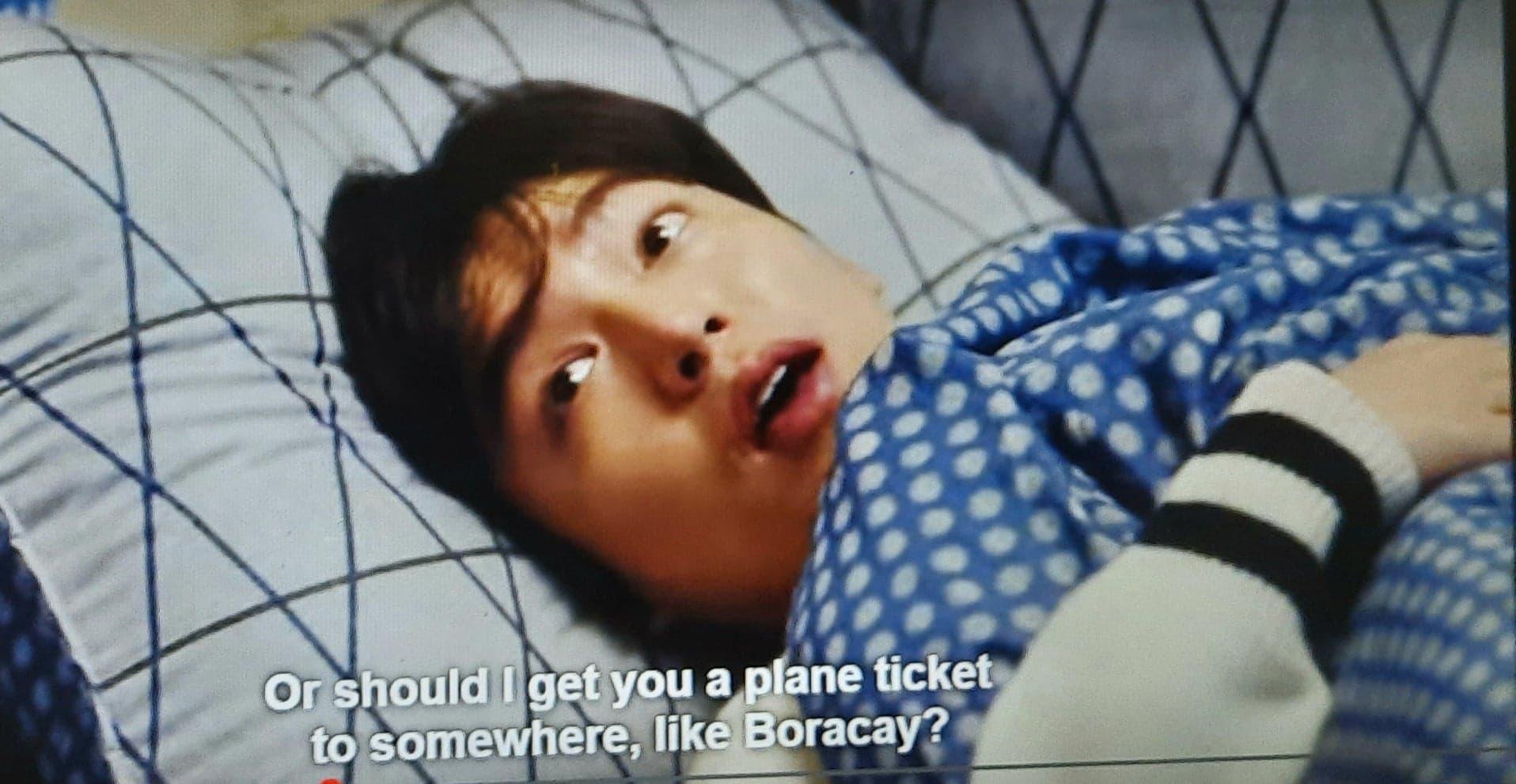 Legend of the Blue Sea scene mentioned Boracay