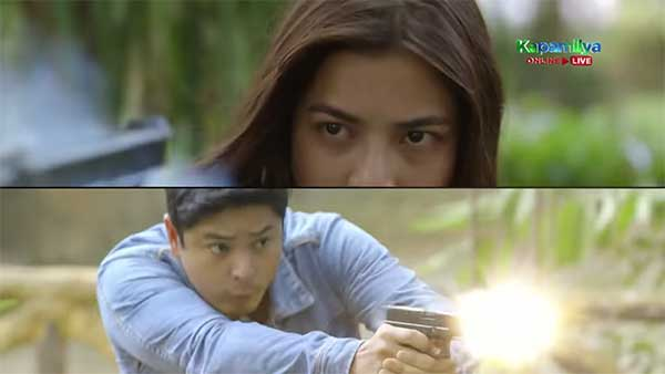 Jane and Coco gun battle in Ang Probinsyano