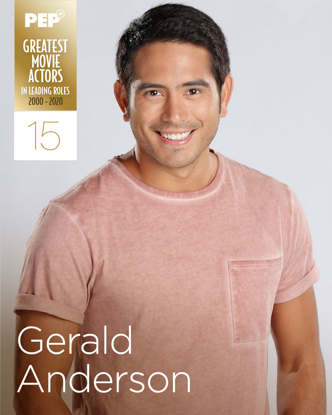 Gerald Anderson, 15 Greatest Actors in Leading Roles