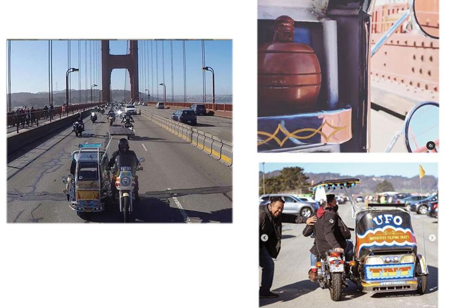 TNT Traysikel crosses Golden Gate Bridge