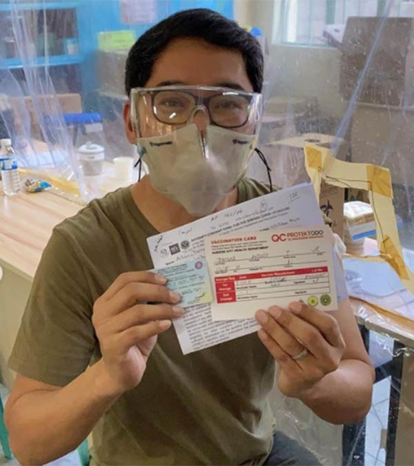 Anthony Taberna vaccinated