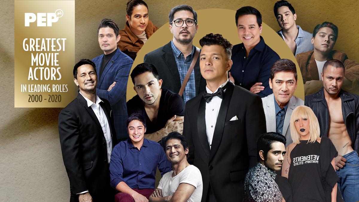 15 Greatest Movie Actors, Jericho Rosales, Aga Muhlach, Dennis Trillo, John Lloud Cruz, Vic Sotto