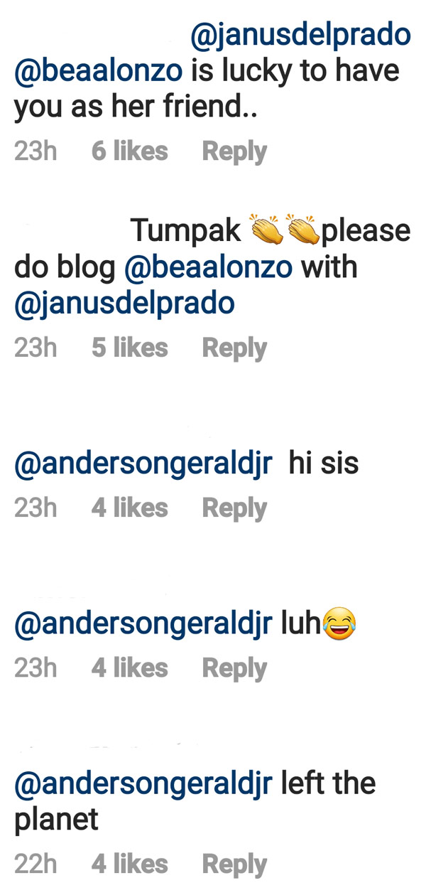IG Comment: Netizens applaud Janue Del Prado for being a good friend to Bea Alonzo