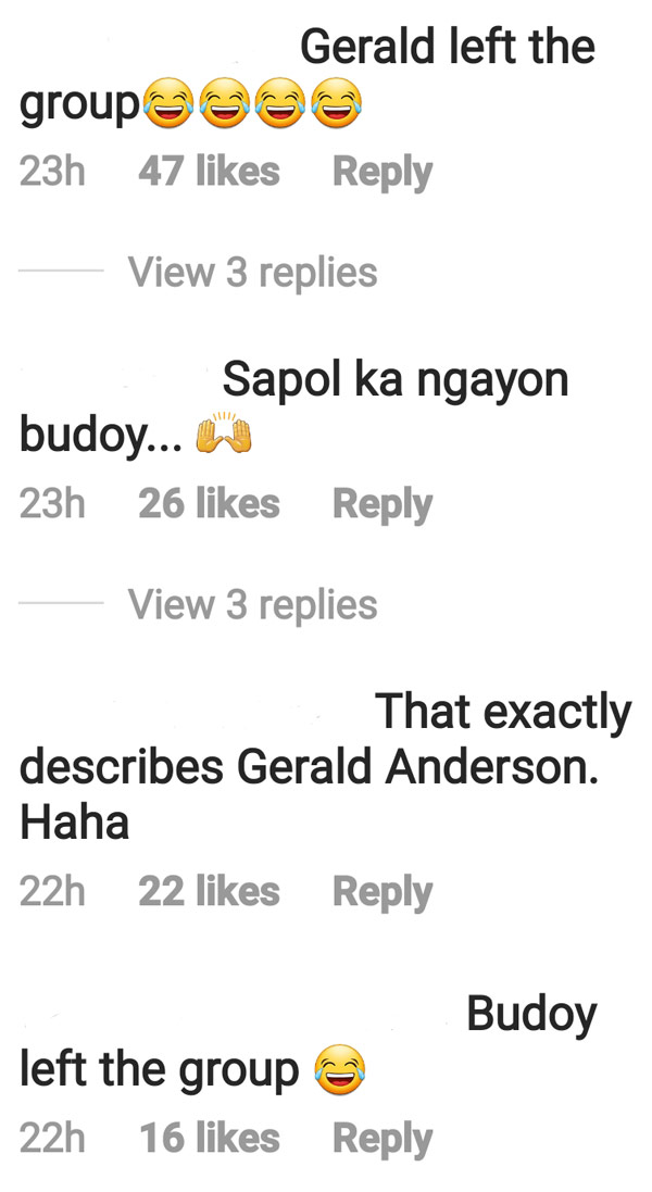 IG Comment: Netizens connect Janus post with Gerald Anderson