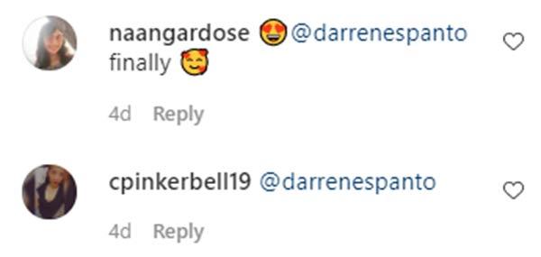 IG Comment: fans tag Darren Espanto on Cassy Legaspi post