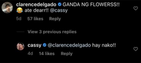 IG Comment: First Yaya co-star Clarence Delgado pokes fun with Cassy Legaspi