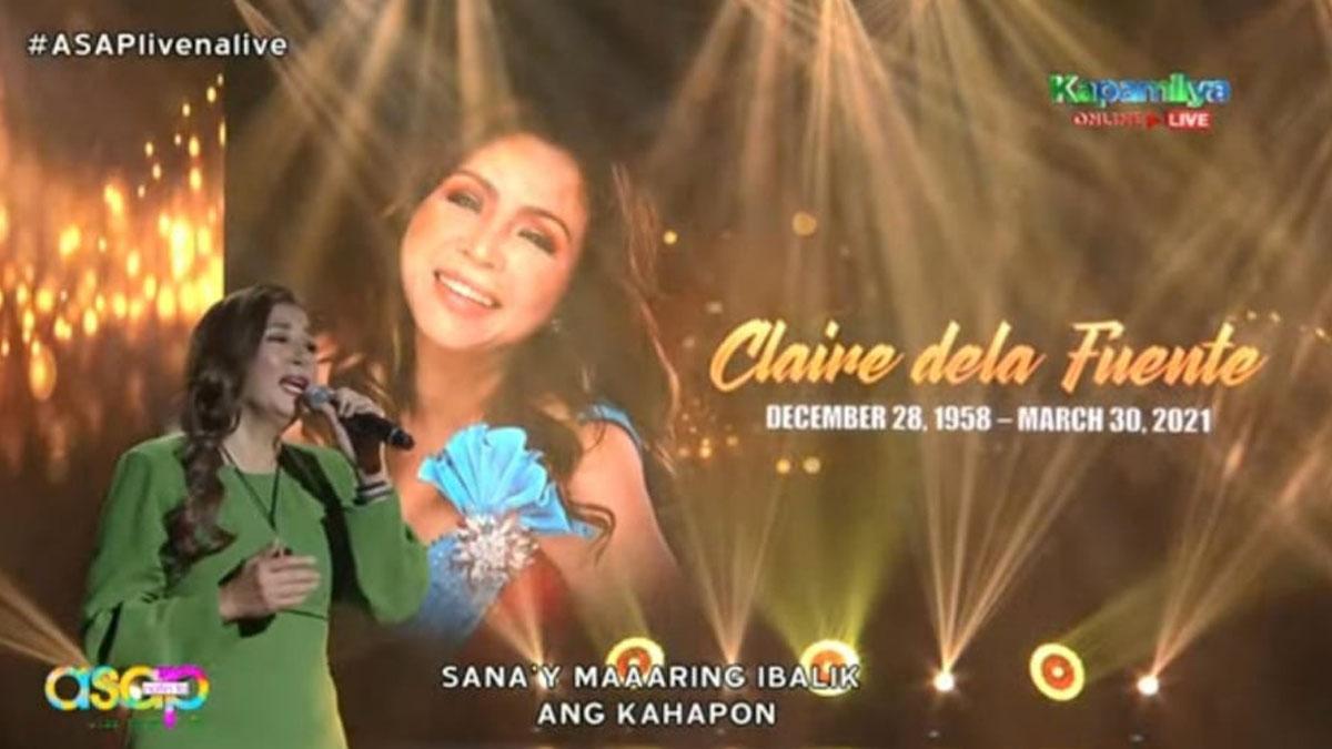Zsa Zsa Padilla in ASAP Natin 'To's Claire dela Fuente Tribute.