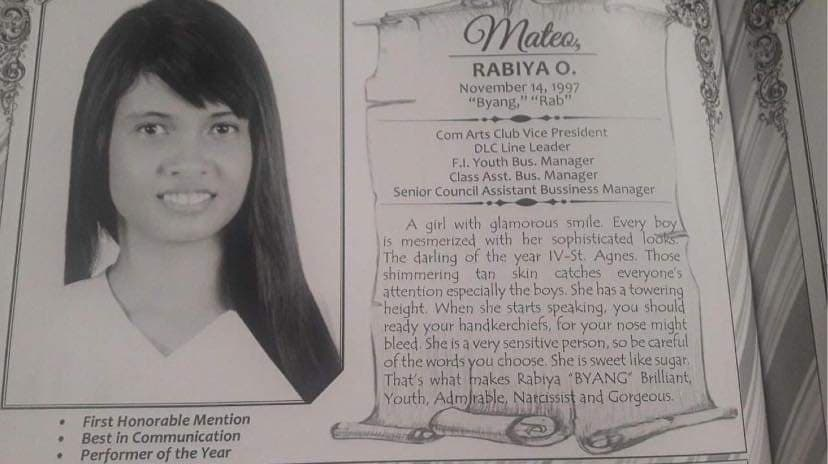 Rabiya Mateo high school graduation photo
