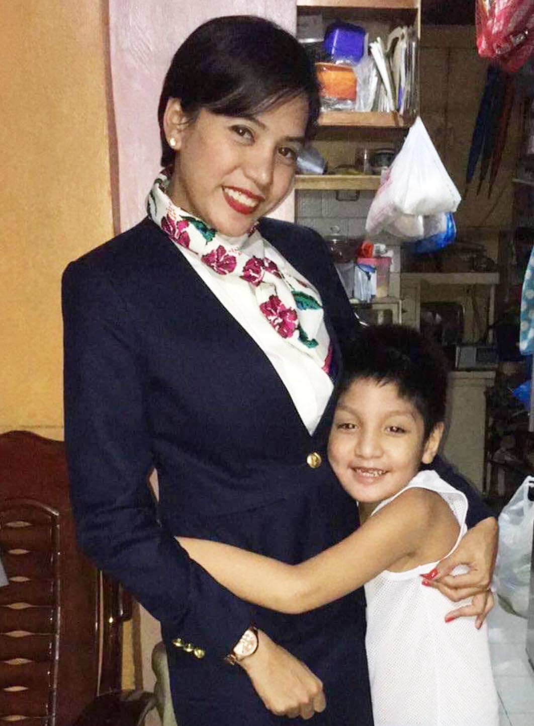 Ella Infante with son Matteo