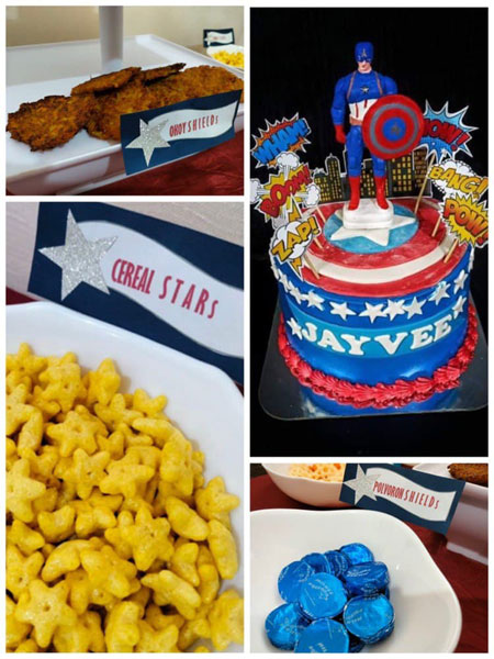 Captain America themed kids birthday party