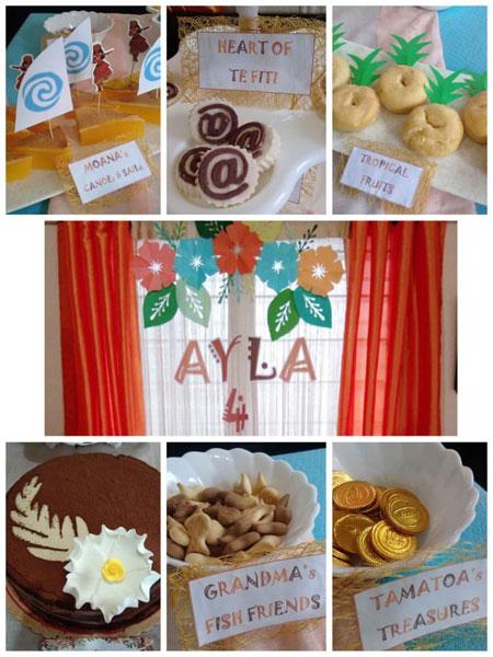 Moana themed kids birthday party