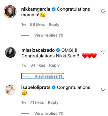 Celeb mommies congratulate Nikki Gil