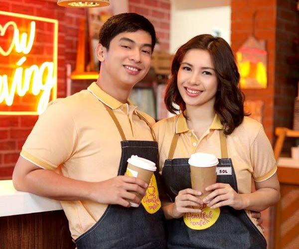 Zonia Mejia and Jamir Zabarte in Heartful Cafe