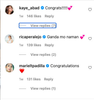 Kaye Abad, Rica Peralejo, Mariel padilla congratulate Nikki Gil