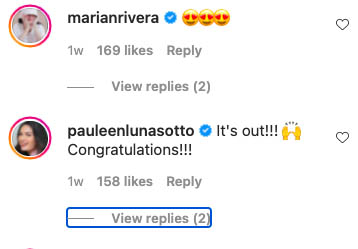 Marian Rivera, Pauleen Luna congratulate Nikki Gil