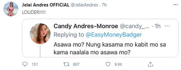 Twitter: Jelai sister Candy slams Jon for the cheating issue