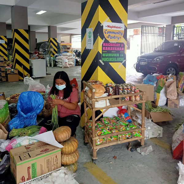 Maginhawa community pantry in the parking space