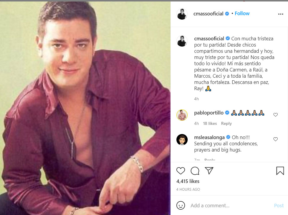 Charlie Masso message for Ray Reyes