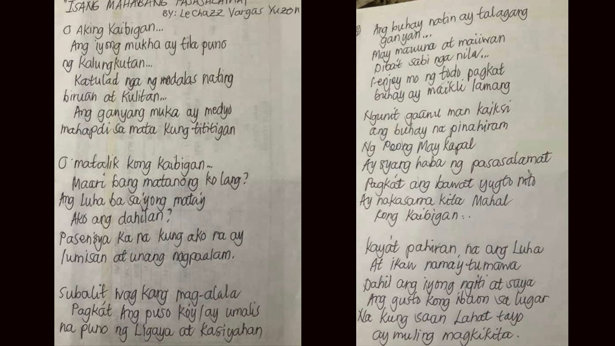 Le Chazz poem for AJ Tamiza