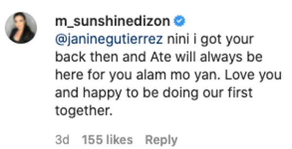 Sunshine Dizon happy to work with Janine Gutierrez in Kapamilya series