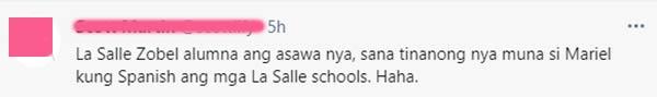 Netizens urge Robin Padilla to ask wife and DLSU alumni Mariel Rodriguez