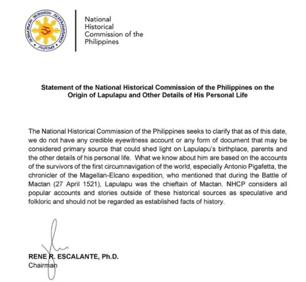 NHCP official statement