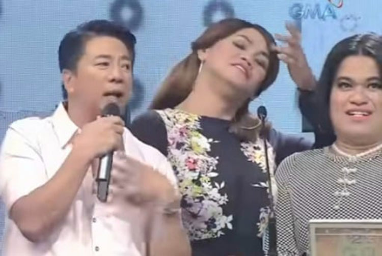 Willie Revillame with Le Chazz and Kim Idol