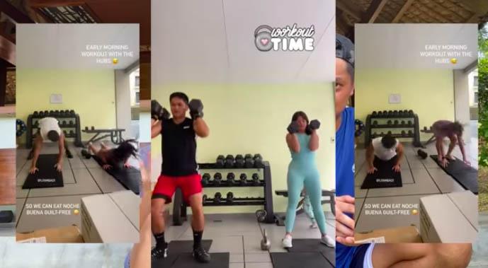 Camille Prats and VJ Yambao workout