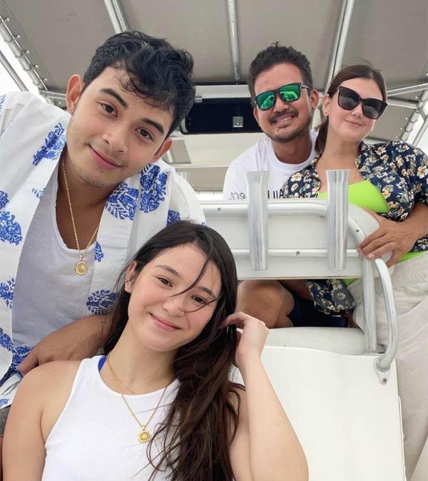 Barbie Imperial, Diego Loyzaga with Angelica Panganiban and boyfriend Greg Hoffman