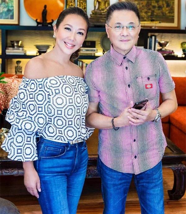 Korina Sanches with late Ricky Lo
