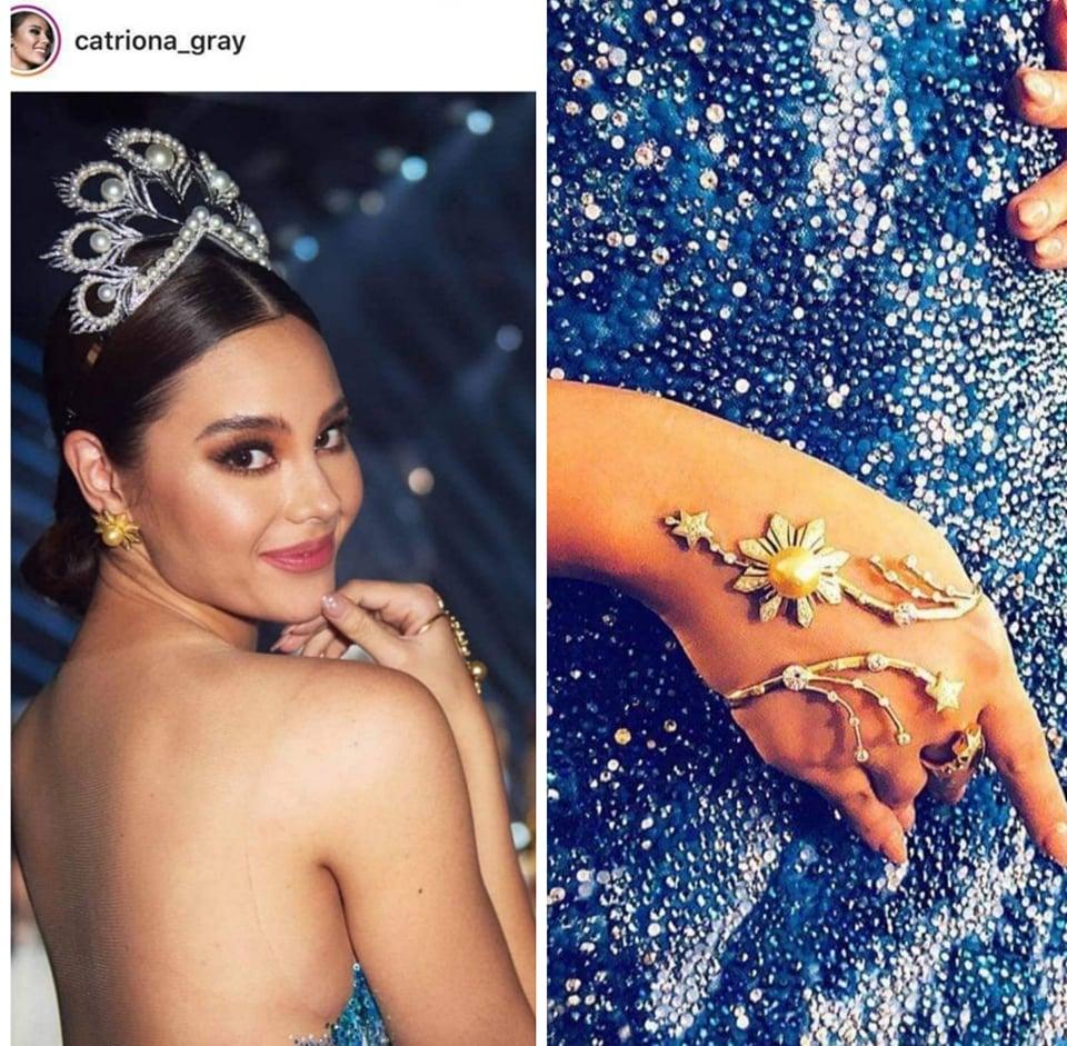 Miss Universe 2018 Catriona Gray farewell walk jewelry