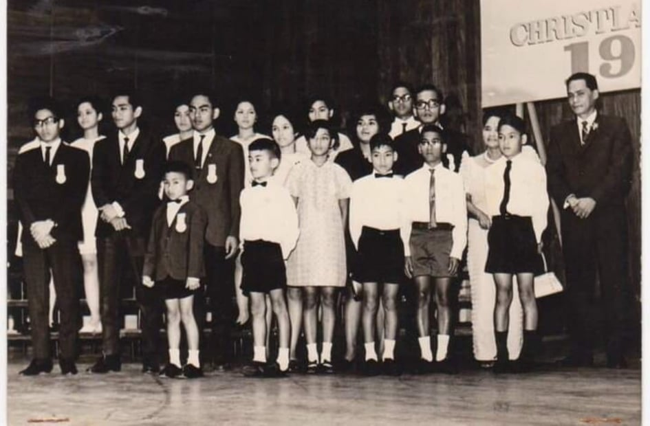 Barrameda Family at the Ten Outstanding Christian Family of the Year event in 1968