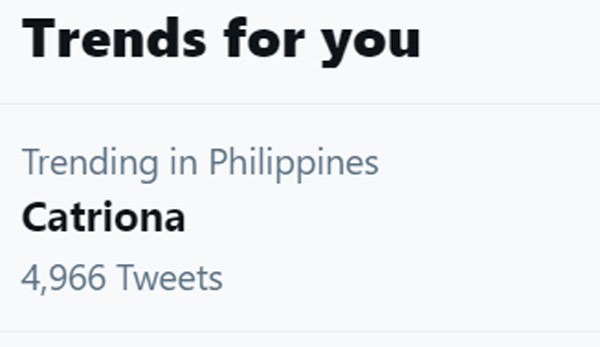 Catriona Gray trends on Twitter