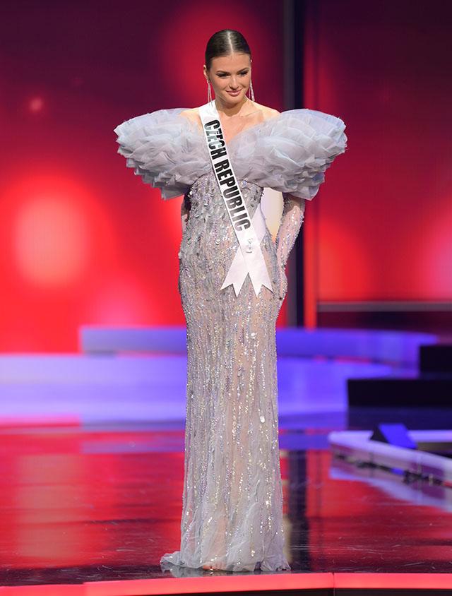 Miss Czech Republic Klára Vavrušková in Michael Cinco gown