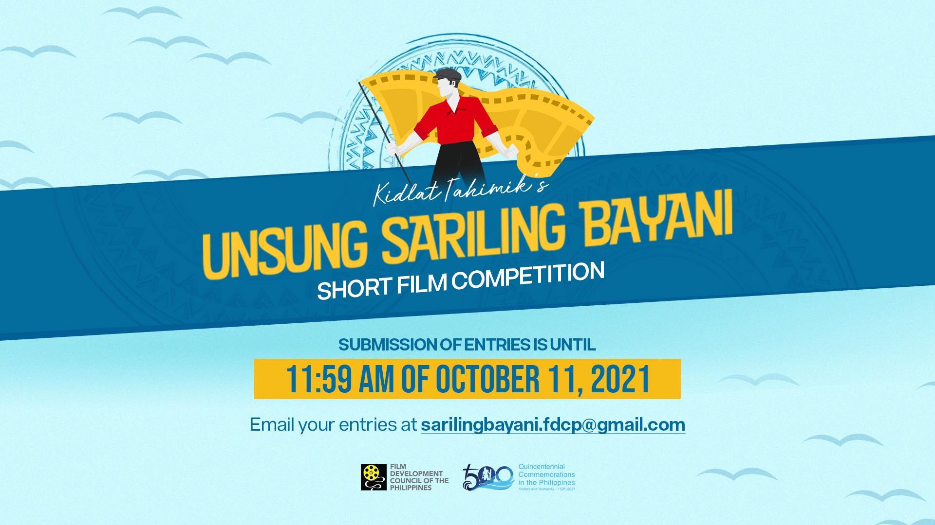 FDCP Kidlat Tahimik's Unsung Sariling Bayani (USB) Short Film Competition