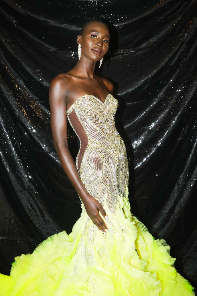 Miss Canada 2020 in Michael Cinco gown