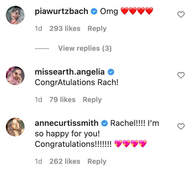 IG comments: Fellow beauty queens and celebrities congratulate Rachel Peters