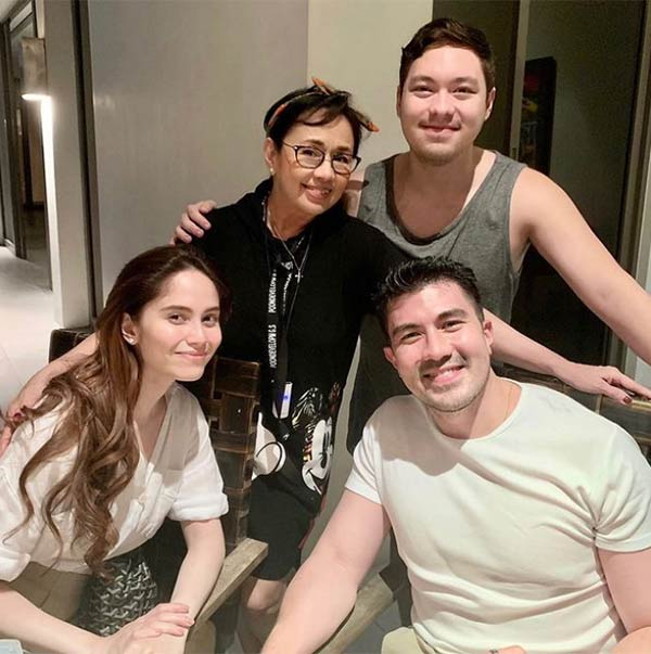 Luis and Jessy with Vilma Santos and Ryan Christian
