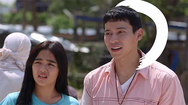 Andrea Brillantes and Enchong Dee on TV5 station ID