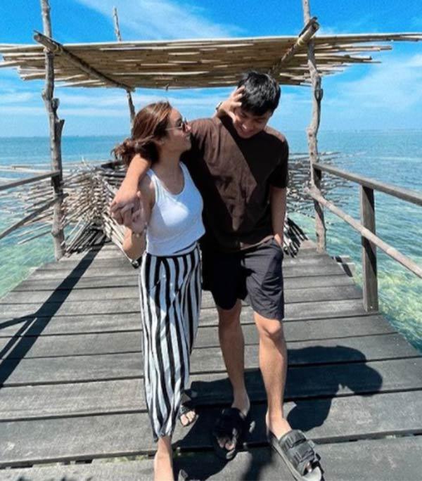 Pauline Mendoza with boyfriend Bryan Celeste