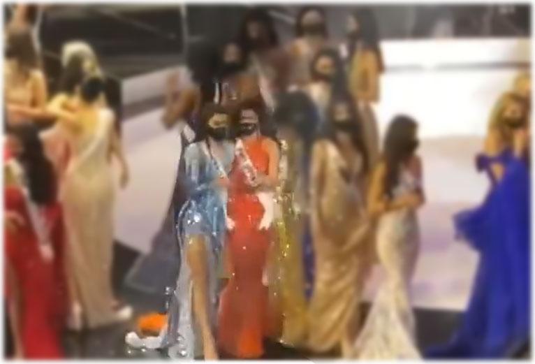 Rabiya Mateo, Miss Thailand Amanda Obdam holding hands