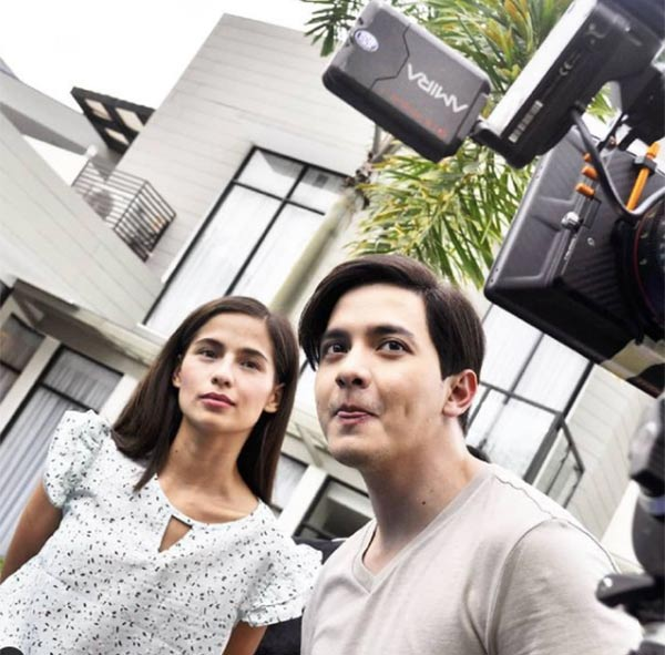 Alden Richards and Jasmine Curtis Smith at The World Between Us taping