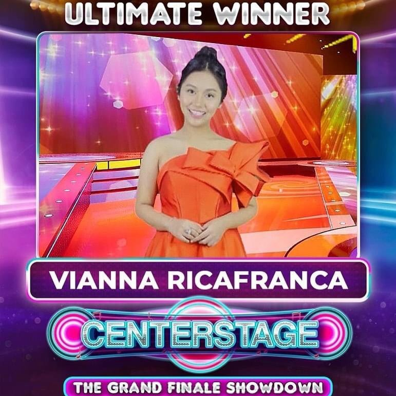 Centerstage ultimate winner Vianna Ricafanca