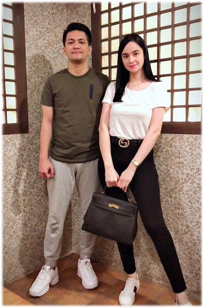 Kim Domingo with late bestfriend Angelo Fango