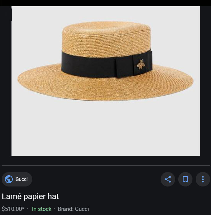 Gucci bee hat