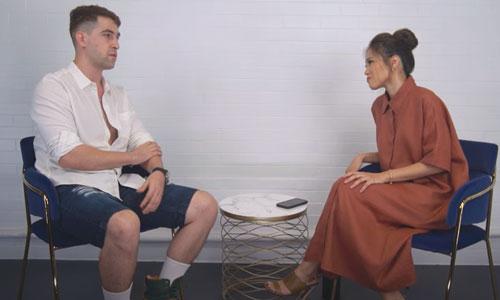 Toni Gonzaga interviewing Basel Manadil on her Youtube channel, Toni Talks