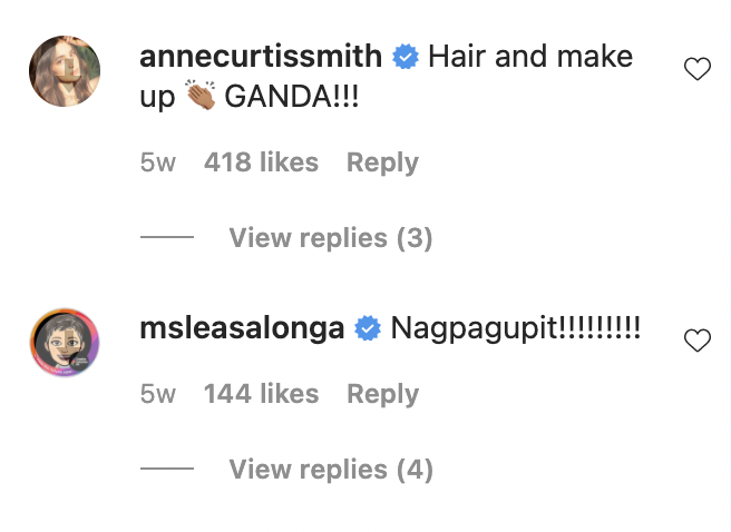 IG Comment: Anne Curtis and Lea Salonga comment on Sarah Geronimo new look