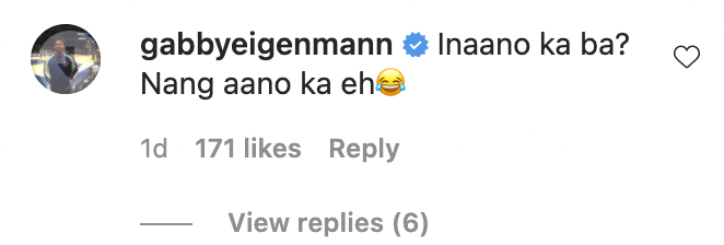 Gabby Eignmann also comments on Lovi's post