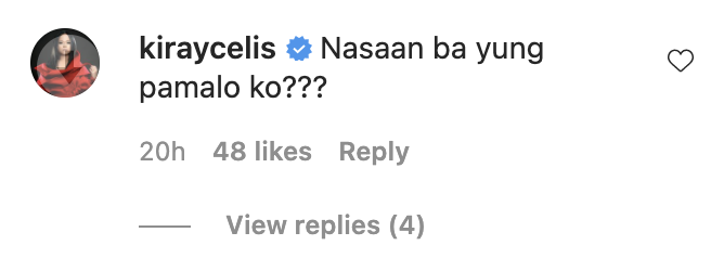 Kiray Celis reacts to Lovi Poe's topless post by looking for her
